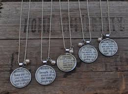 dictionary word necklace pendant