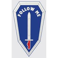 Follow Me U S Army Infantry School Military Car Window Decal Star Spangled 1776