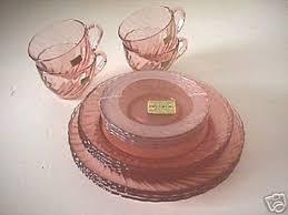pink depression glass no