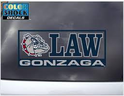 Amazon Com Cdi Gonzaga Bulldogs Decal Gonzaga Bulldogs Law Automotive Decals Sports Outdoors