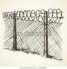 Barbed Wire Chain Link Fence Black Stock Vector Royalty Free 1009964653