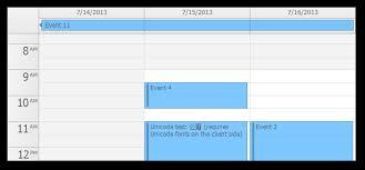 business hours event calendar
