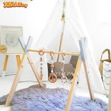 Big Discount 0360c Xihatoy Baby Gym Wood Newborn Fitness Rack Kids Play Ring Pull Toy Children Room Decorations Photography Infant Accessories Cicig Co