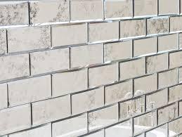 antiqued bevelled mirror brick tiles