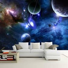 Home Room Wallpaper Kids Bedroom Outer Space Theme Unique Wall Sticker Accessory 691049470710 Ebay