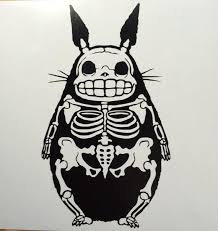 Skeleton My Neighbor Totoro Inspired Vinyl Sticker Decal Car Etsy