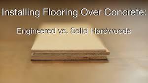 hardwood floors over concrete you