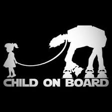 Banksy Child On Board Decal Sticker For Car Van Caravan 4x4 Safety Star Wars Ebay