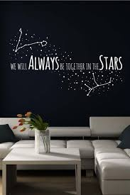 Stars Wall Decal Zodiac Wall Decal Love Wall Art Star Wall Decals Love Wall Art Love Wall
