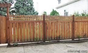 Wood Fence Semi Privacy Picture Interunet