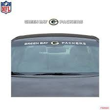 Licensed Official Brand New Nfl Green Bay Packers Car Truck Suv Windsh Ko 41 13 Kickoffshirts Com Fishing 2018