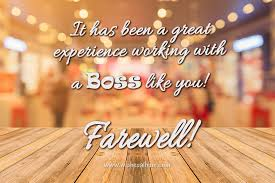 farewell messages for boss com