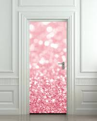 Pulaton Door Sticker Pink Glitter Sparks Mural Decal Cover All Sizes Pulaton On Artfire