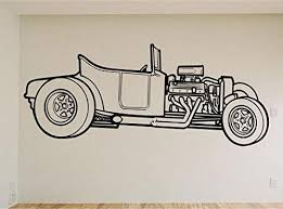Street Rod Coupe Car Auto Wall Decal Stickers Murals Boys Room Man Cav