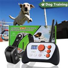 2 In 1 Training Collar Dog Fence Rechargeable Dog Training System Wish