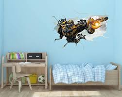 Amazon Com Ottos S Art 3d Broken Wall Transformer Removable Wall Decal Vinyl For Home Decoration 45 X32 Home Kitchen