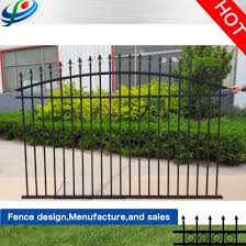 China Aluminum Metal Garden Border Fence For House Garden Villa Department China Flat Top Fence And Safety Fence Price