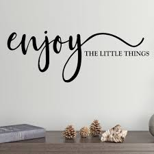 Shop Enjoy The Little Things Vinyl Wall Decal Overstock 29045816