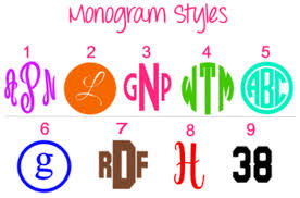 Monogram Personalized Vinyl Decal For Popsocket Phone Grip And Stand Plush