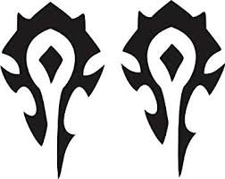 World Of Warcraft Exterior Pack Of 2 Window Decal Sticker 6 Tall Black Decals Magnets Bumper Stickers Amazon Canada