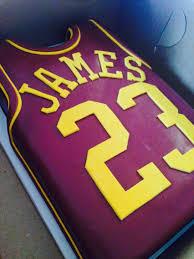 Lebron James Jersey Birthday Cake Tortas De Cumpleanos Para