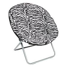 Oversized Saucer Chair Zebra Print Saucer Chairs Kids Bedroom Furniture Nest Chair