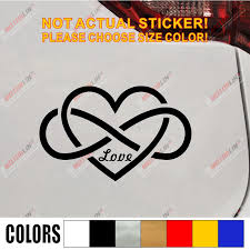 Double Infinity Symbol Love Heart Decal Sticker Car Vinyl Pick Color Size No Background Car Stickers Aliexpress