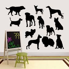 Dog Silhouettes Wall Decal Set Sweetums Signatures