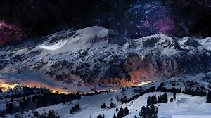 night snow wallpapers top free night