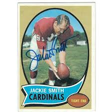 Autographed JACKIE SMITH 1970 Topps Card