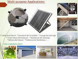 solar powered exhaust ventilation fan