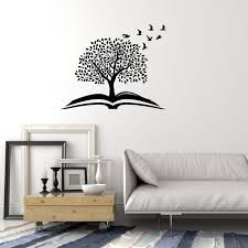 Vinyl Wall Decal Magic Tree Open Book Reading Room Library Stickers 3 Wallstickers4you