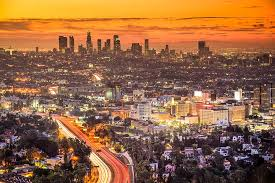 los angeles sunset wall mural murals