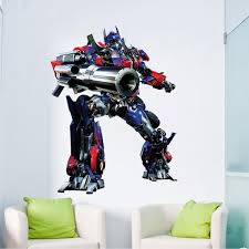 Optimus Prime Transformers Wall Graphic Decal Transformer Wall Murals Transformers Wallpaper Optimus B Kids Wall Murals Kids Room Decals Bedroom Stickers