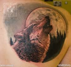 Tattoo Wolf Moon Szukaj W Google