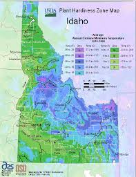 idaho planting zones usda map of