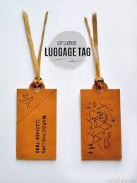 diy leather luggage tags cricut