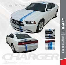 2011 2012 2013 2014 Dodge Charger 10 Racing Stripe Vinyl Graphic Decal Cut Kit