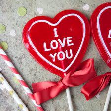 i love you heart shaped lollipop