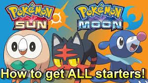 How to Get ALL New Starter Pokemon In Pokemon Sun and Moon EASY! (Rowlet,  Litten & Popplio Guide!) - YouTube
