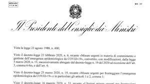 Decreto 17 maggio 2020: testo completo, misure e allegati nuovo ...