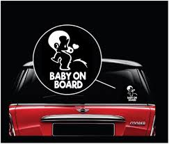 Baby On Board Safety Warning Car Decal Stickers Totomo Us