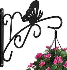 Hanging Plants Bracket Wall Planter Hook Flower Pot Patio Lawn Garden Outdoor