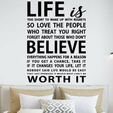 Winston Porter Life Is Too Short To Wake Up With Regrets Vinyl Wall Decal Reviews Wayfair
