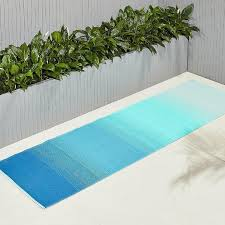 dusk blue green outdoor rug runner