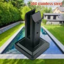 Black Stainless Steel Spigots Glass Clamp Frameless Glass Pool Fence Panels L5s8 Ebay