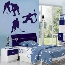 Hockey Boys Bathroom Decor Vinyl Wall Stickers Vinyl Wall