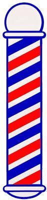 Amazon Com Scalpmaster Striped Barber Pole Cling Window Decal Sticker Bk Sc 9015 Clothing