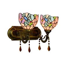 16 inch vintage stained glass tiffany