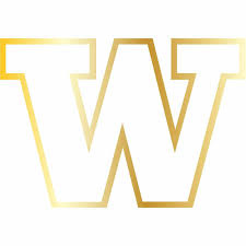 U Of Washington Outlined W Logo Uw Vinyl Decal Sticker